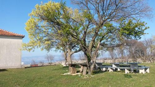 Ausflugziel Sveti Petar bei Gabonj - Kapelle mit Picknickplatz unter dem Baum
